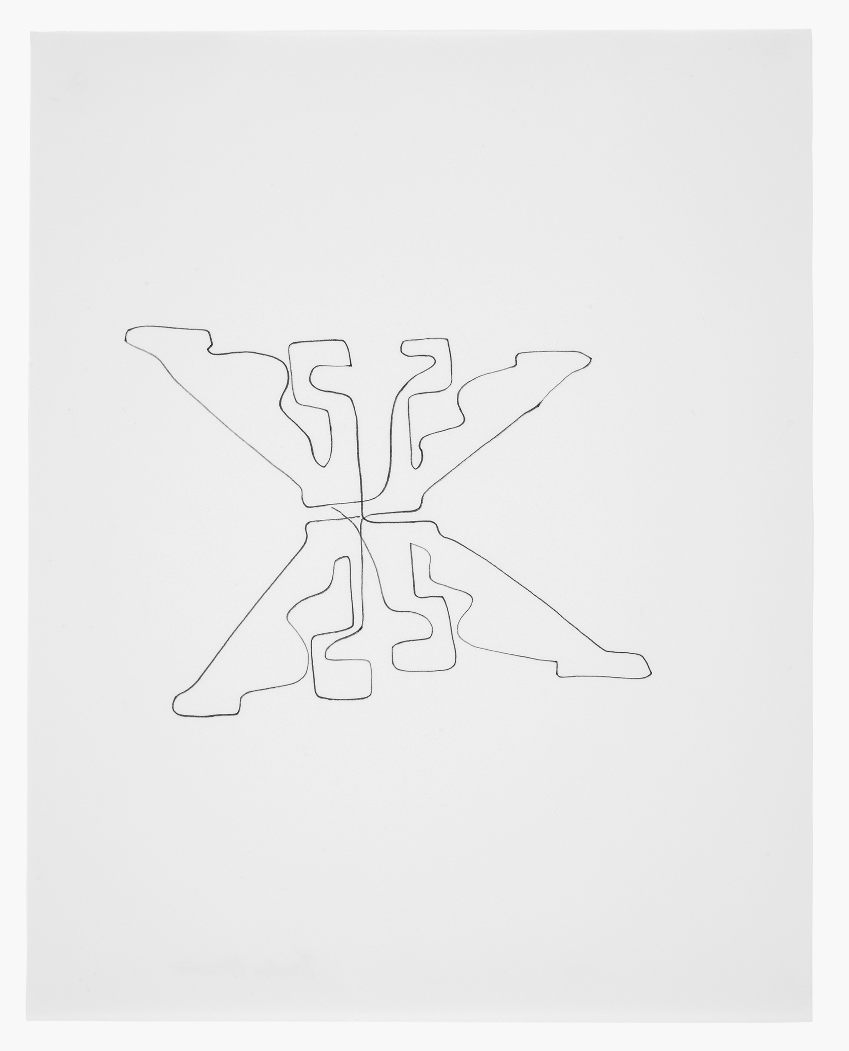 If you couldnt see me on performativity walker art center 31 trisha brown untitled 1994 ink on paper 20 x 17 x 1 916 in 5271 x 4477 x 397 cm framed collection the artist ccuart Choice Image